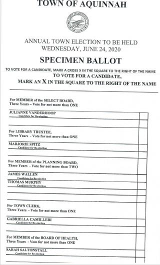 specimen ballot